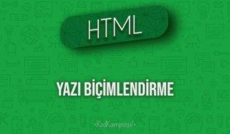 HTML Yazı Biçimlendirme