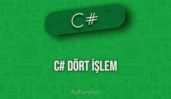 C# Dört İşlem