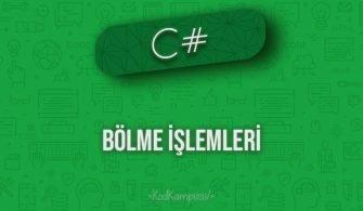 C# bölme işlemleri