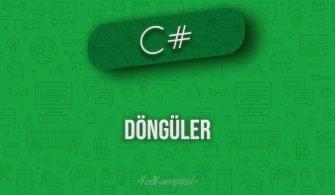 C# While Döngüsü