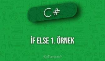 C# if else 1. örnek