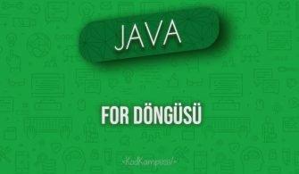 Java'da For Döngüsü
