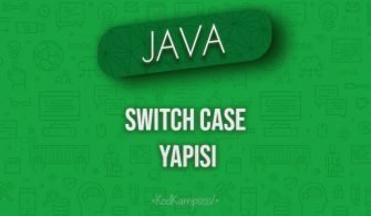 Java'da Switch Case Yapısı