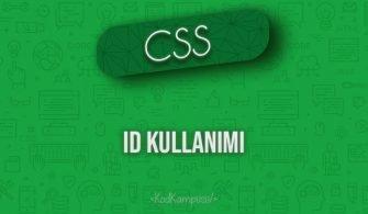 CSS ID Kullanımı