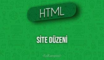 HTML Site Düzeni