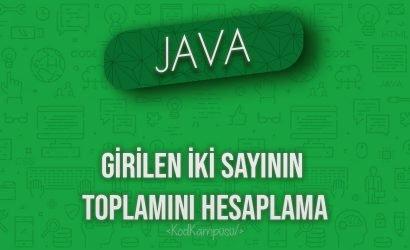 Java girilen iki sayının toplamını hesaplama
