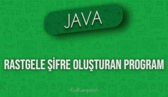 Java rastgele şifre oluşturan program