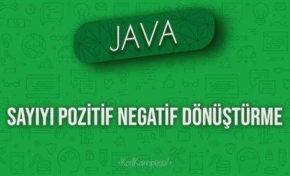 Java sayıyı pozitif negatif dönüştürme