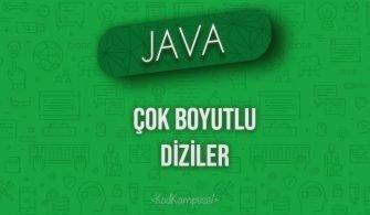 Java'da Çok Boyutlu Diziler