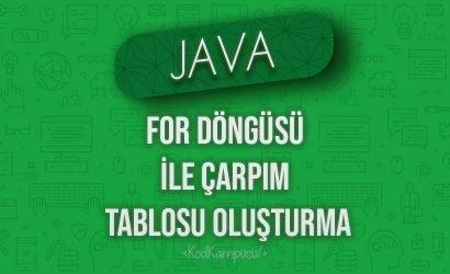 Java'da For Döngüsü ile Çarpım Tablosu Oluşturma