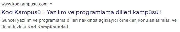 HTML Meta Etiketi