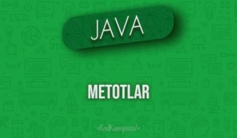 Java'da Metotlar