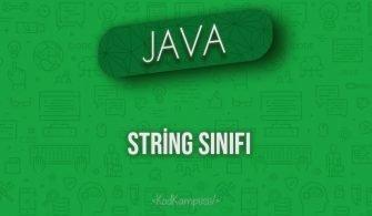Java'da String Sınıfı