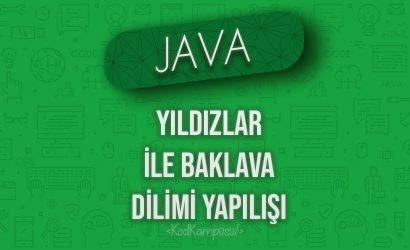 Java Yıldızlar ile Baklava Dilimi Yapılışı