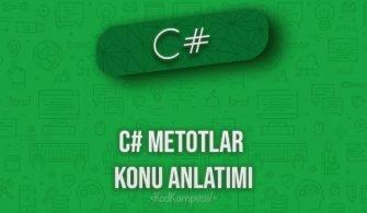 C# Metotlar konu anlatımı