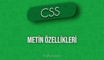 CSS Metin Özellikleri