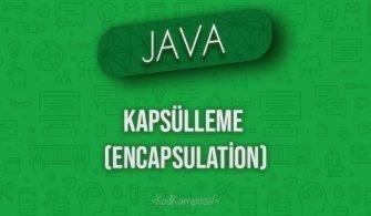 Java'da Kapsülleme (Encapsulation)