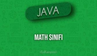 Java'da Math Sınıfı