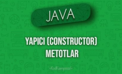 Java'da Yapıcı (Constructor) Metotlar