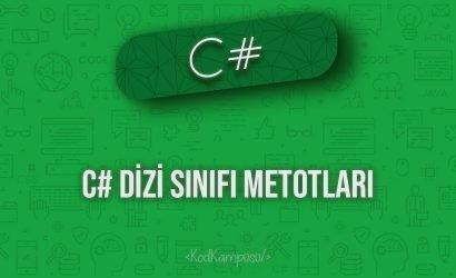 C# Dizi Sınıfı Metotları