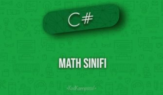 C# Math Sınıfı