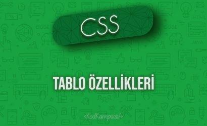 CSS Tablo Özellikleri