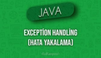 Java'da Exception Handling (Hata Yakalama)