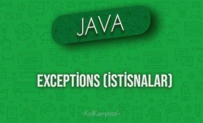 Java'da Exceptions (İstisnalar)