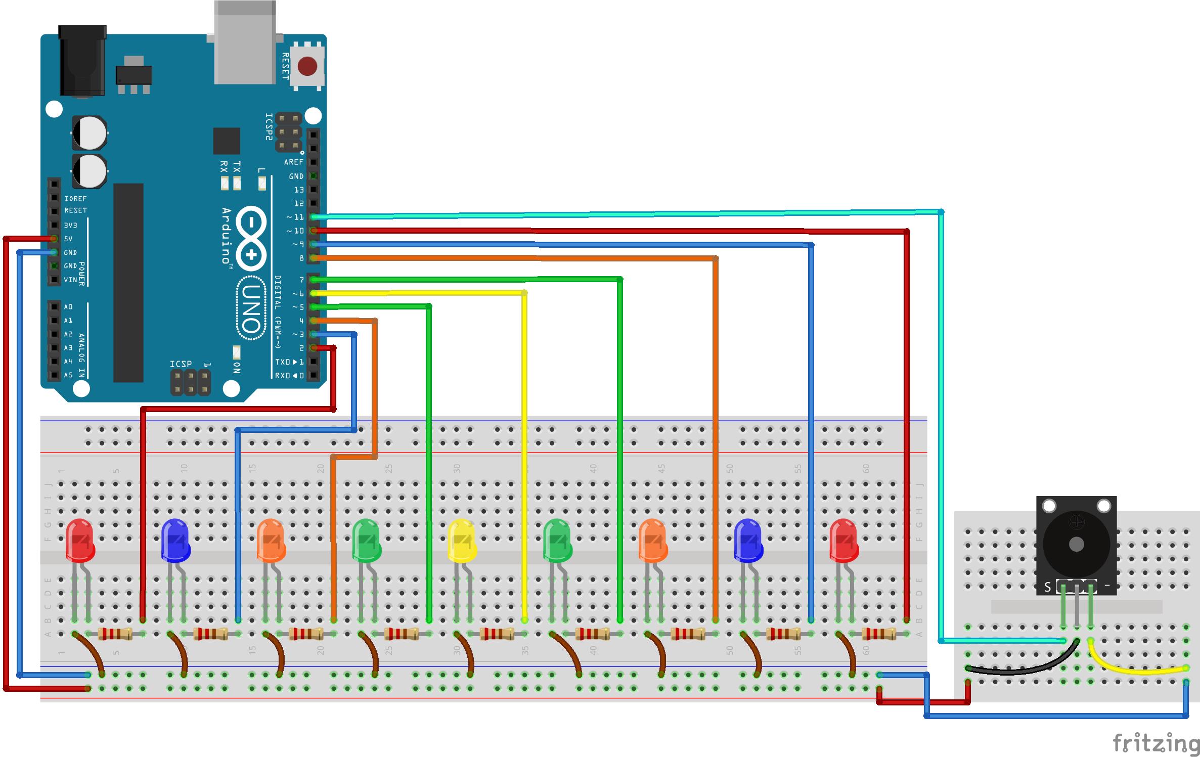 Arduino Animasyonlu LED Yapımı
