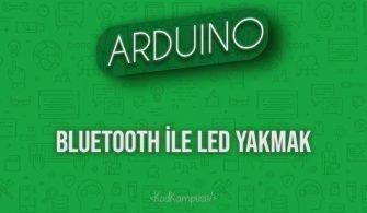 Arduino Bluetooth ile LED Yakmak