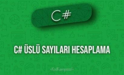 C# Üslü Sayıları Hesaplama